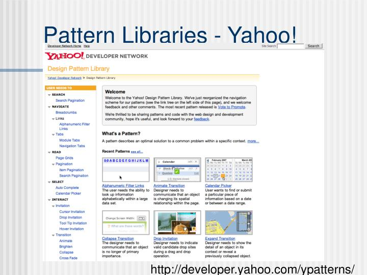 Pattern Libraries - Yahoo!