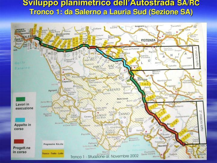 Sviluppo planimetrico dell'Autostrada
