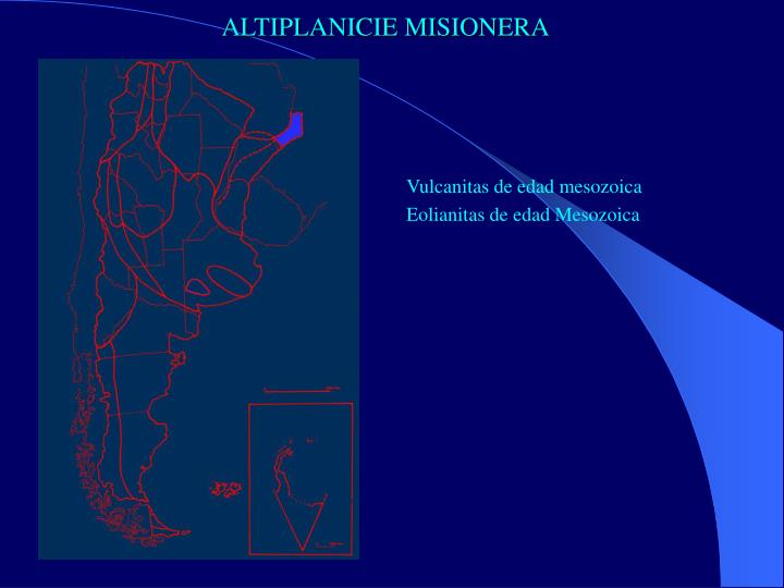 ALTIPLANICIE MISIONERA