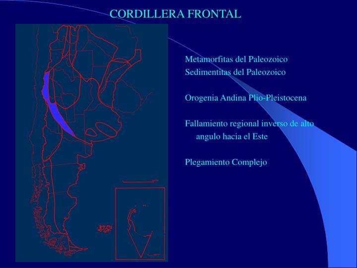 CORDILLERA FRONTAL