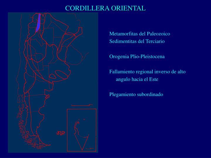 CORDILLERA ORIENTAL
