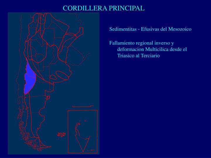 CORDILLERA PRINCIPAL
