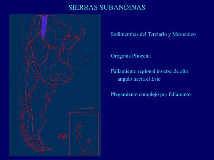 SIERRAS SUBANDINAS