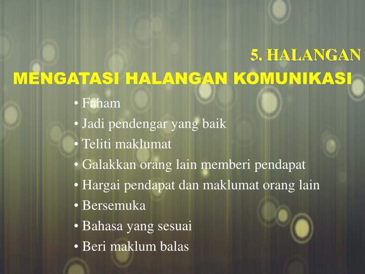 5. HALANGAN