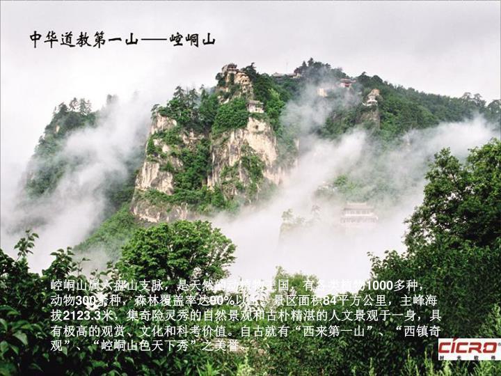 崆峒山属六盘山支脉,是天然的动植物王国,有各类植物