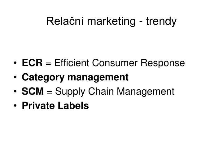 Relační marketing - trendy