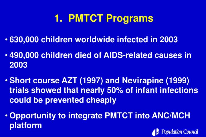 1.  PMTCT Programs