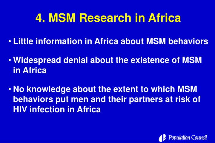 4. MSM Research in Africa