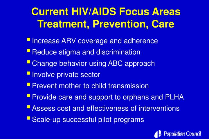 Current HIV/AIDS Focus Areas