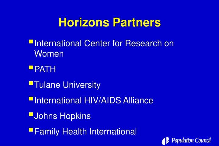 Horizons Partners