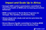 impact and scale up in africa