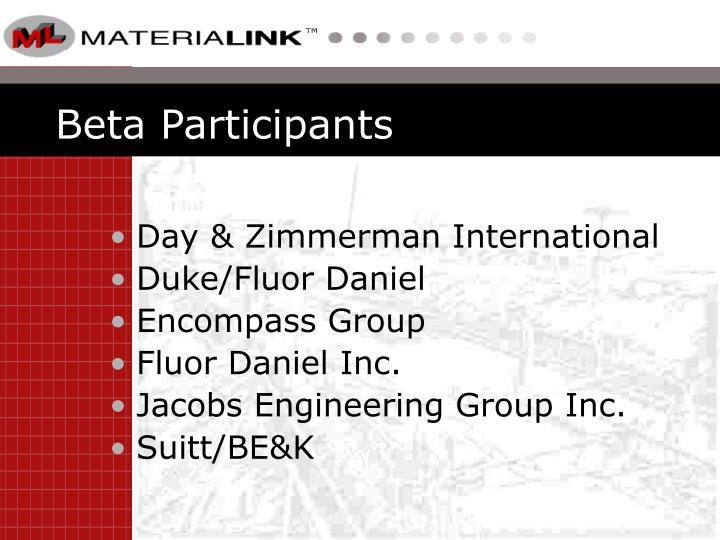 Beta Participants