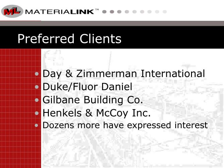 Preferred Clients
