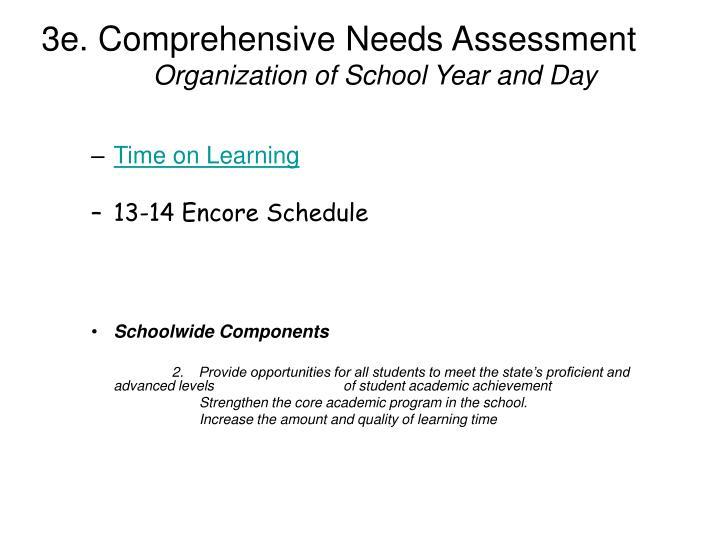 3e. Comprehensive Needs Assessment