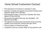 home school involvement contract