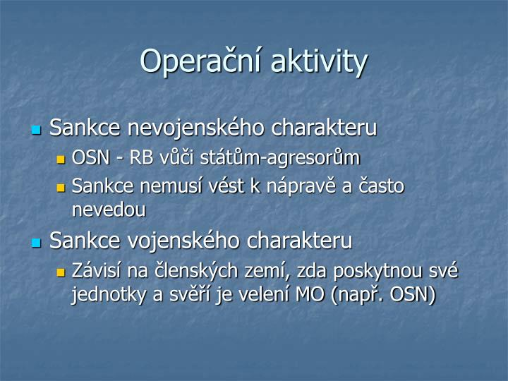 Operační aktivity