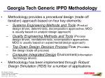 georgia tech generic ippd methodology