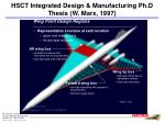 hsct integrated design manufacturing ph d thesis w marx 1997