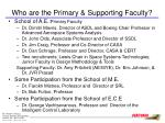 who are the primary supporting faculty