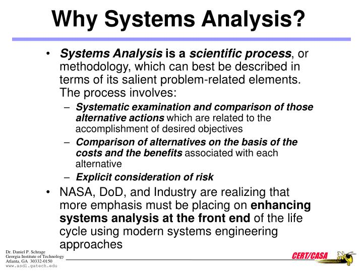 Why Systems Analysis?