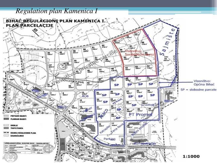 Regulation plan Kamenica I