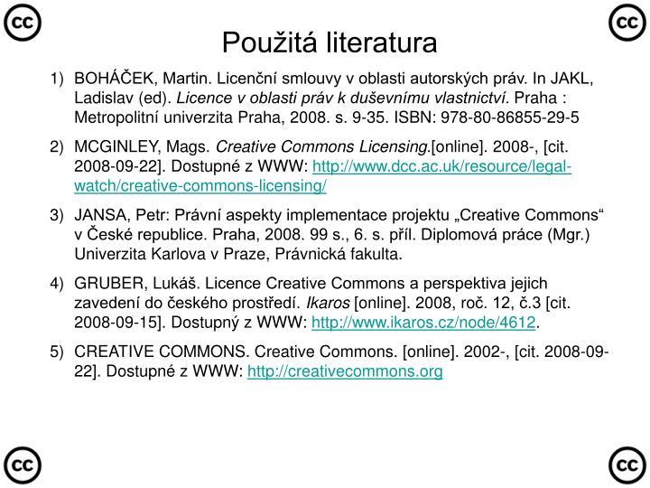 BOHÁČEK, Martin. Licenční smlouvy v oblasti autorských práv. In JAKL, Ladislav (ed).