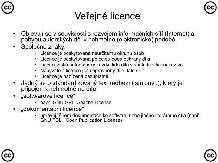 Veřejné licence