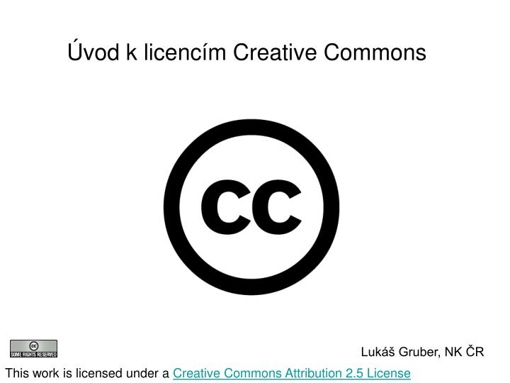 Vod k licenc m creative commons