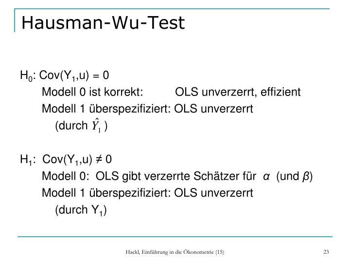 Hausman-Wu-Test