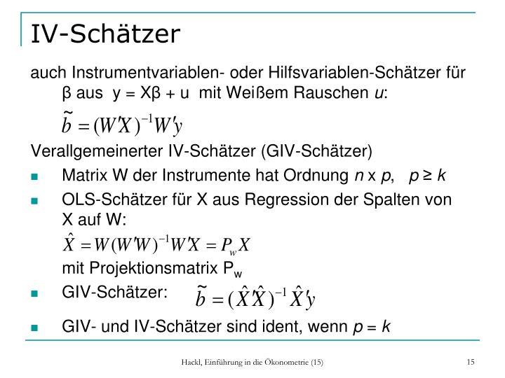 IV-Schätzer