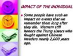 impact of the individual
