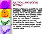 political and social systems