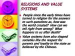 religions and value systems