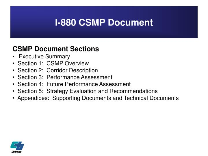 I-880 CSMP Document