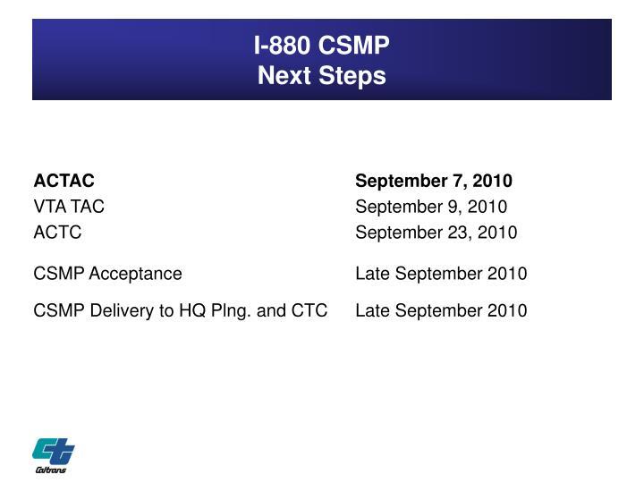 I-880 CSMP