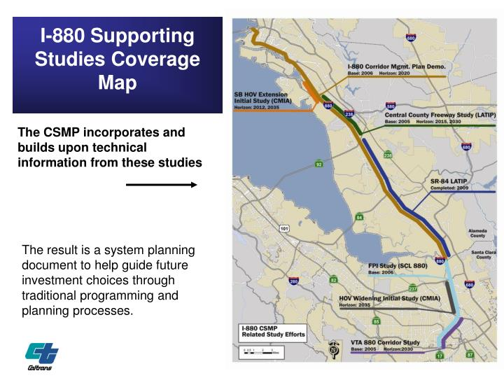 I-880 Supporting Studies Coverage Map