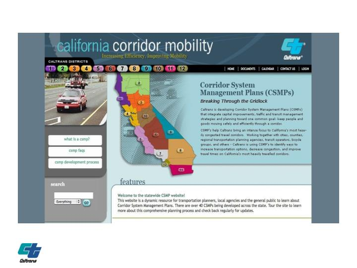 CORRIDORMOBILITY.ORG SCREEN SHOT