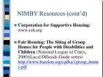 nimby resources cont d1