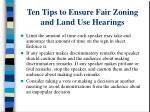 ten tips to ensure fair zoning and land use hearings2