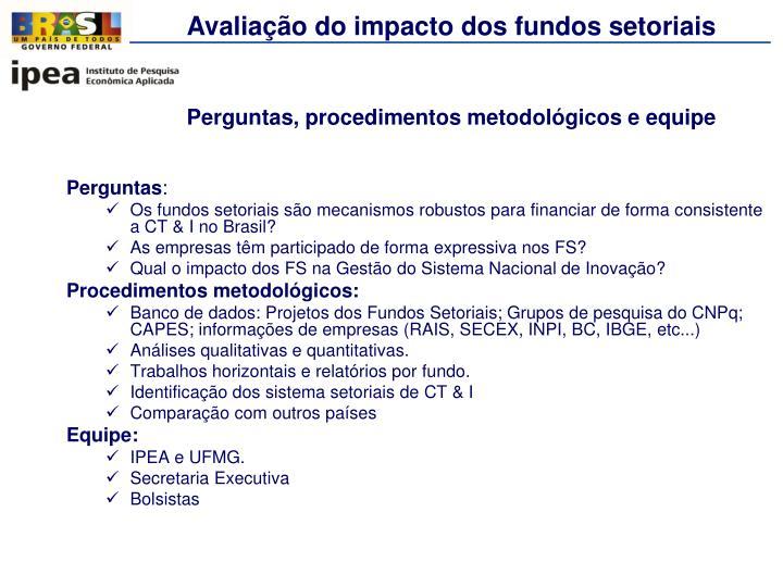 Avaliação do impacto dos fundos setoriais