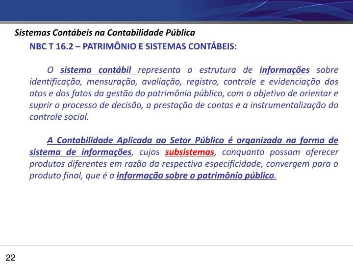 Sistemas Contábeis na Contabilidade Pública