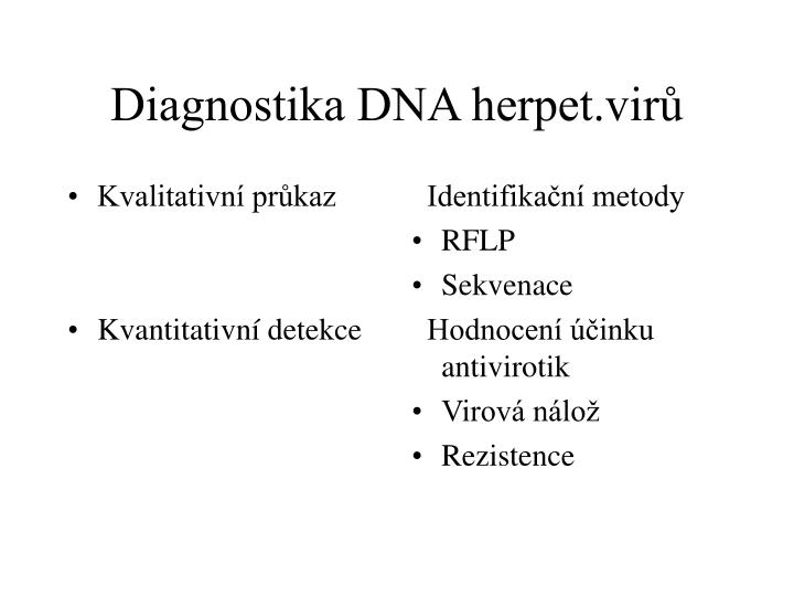 Diagnostika dna herpet vir