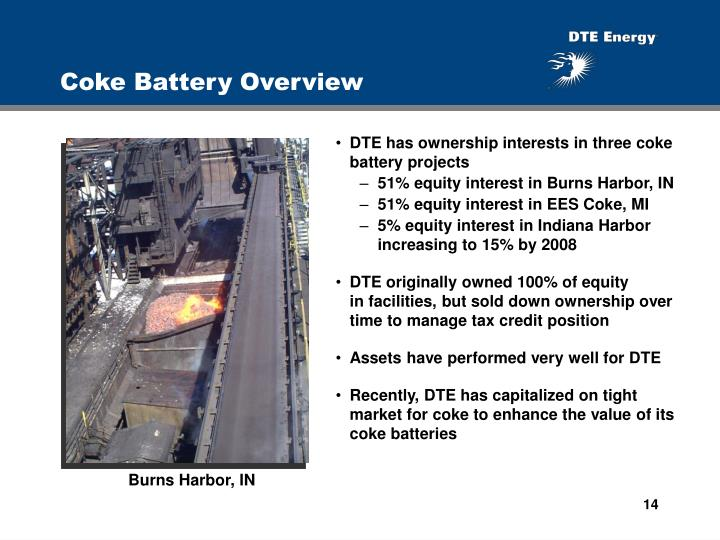 Coke Battery Overview