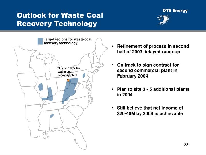 Outlook for Waste Coal      Recovery Technology