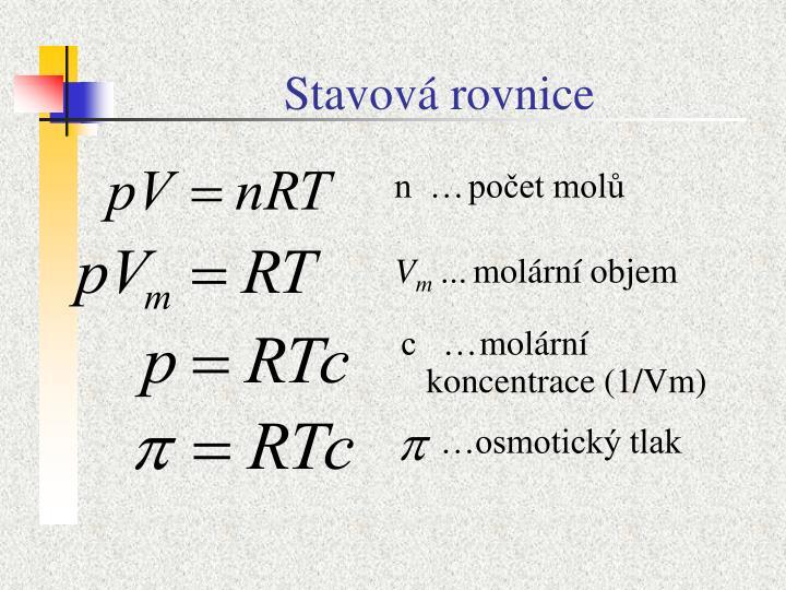 Stavová rovnice