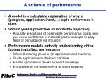 a science of performance