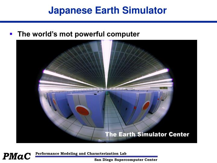 Japanese earth simulator