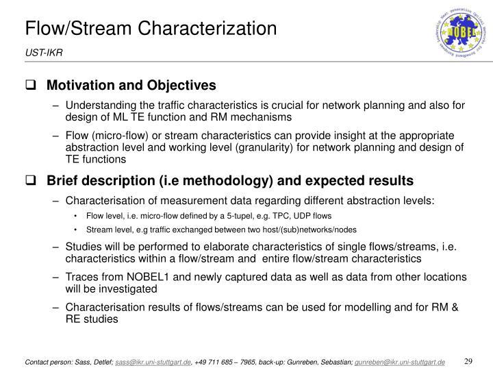 Flow/Stream Characterization