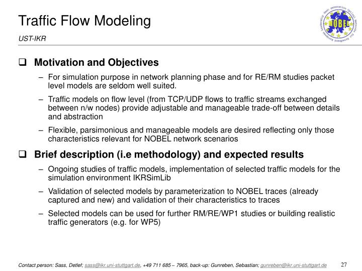 Traffic Flow Modeling