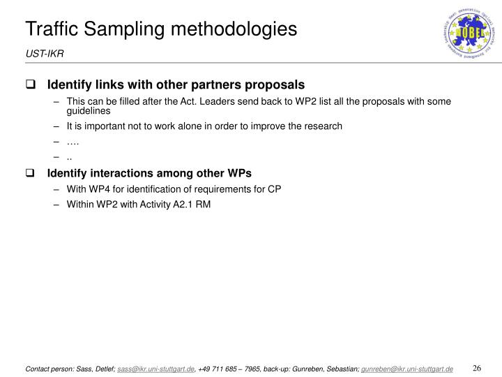 Traffic Sampling methodologies